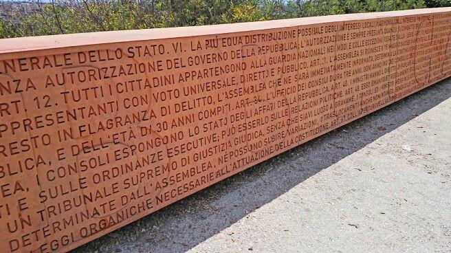 Muro della Costituzione Italiana