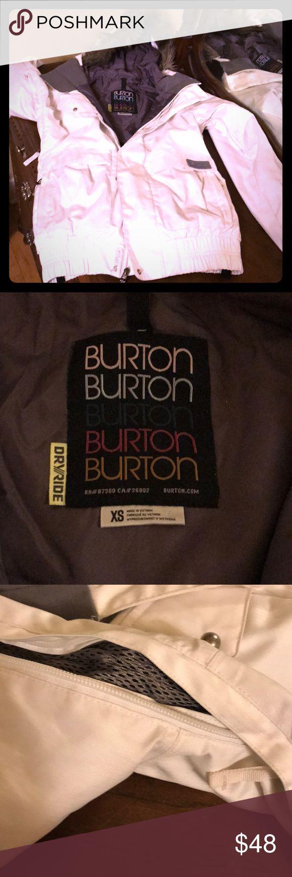 Burton ski shell Great ski jacket bu Burton. Hooded, pit zips, minimal wear n tear. Zipper front with exterior snaps as well. Burton Jackets & Coats
