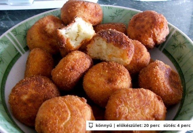 Krumplis sajtgolyók