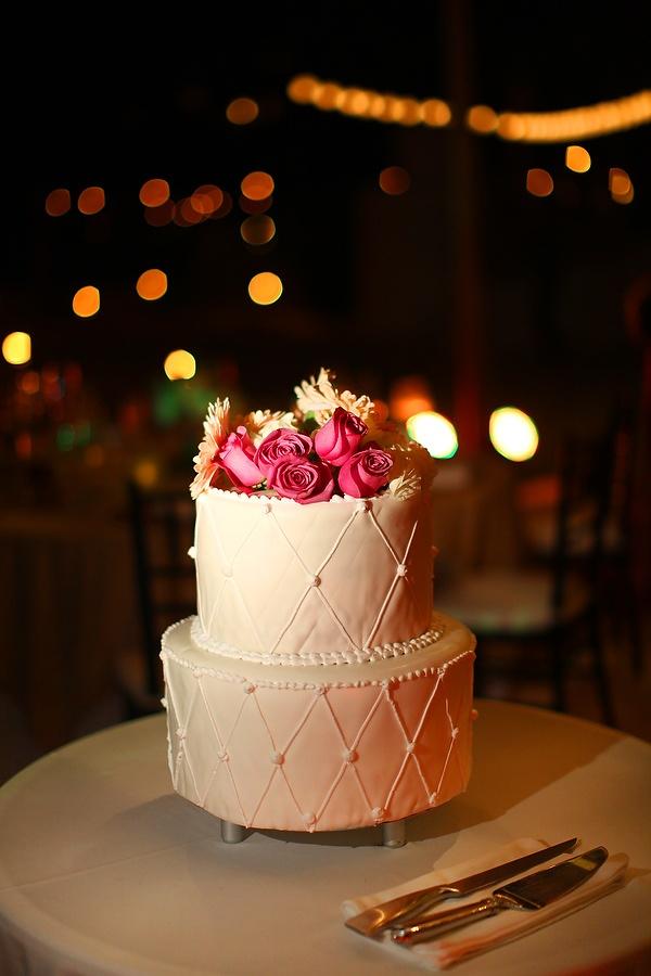 Hot Pink Roses + White gerbers