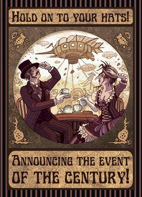 I need to have a steampunk party. YES, YES, YEEEEHEES. Ah-HEM. Sorry about that got a little carried away there. Don't worry it will happen again.