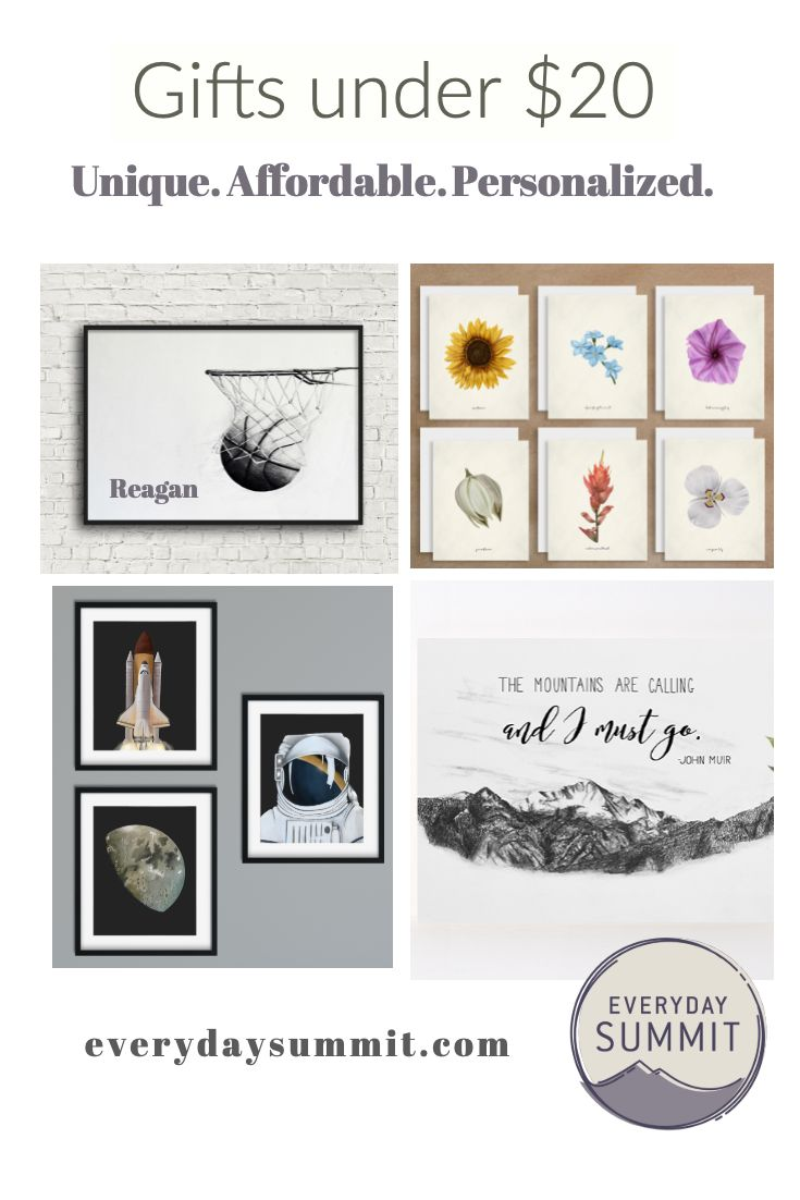 Gifts Under 20 Personalized Art And Unique Cards Great For Stocking Stuffers