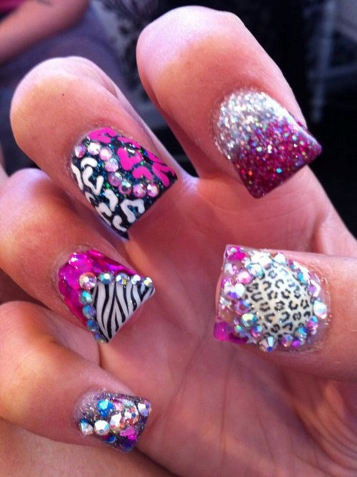 : Nails Nails, Animal Nails, Nails Art, Nails Design, Animal Prints, Bling Nails, Prints Nails, Nails 3, Bling Bling