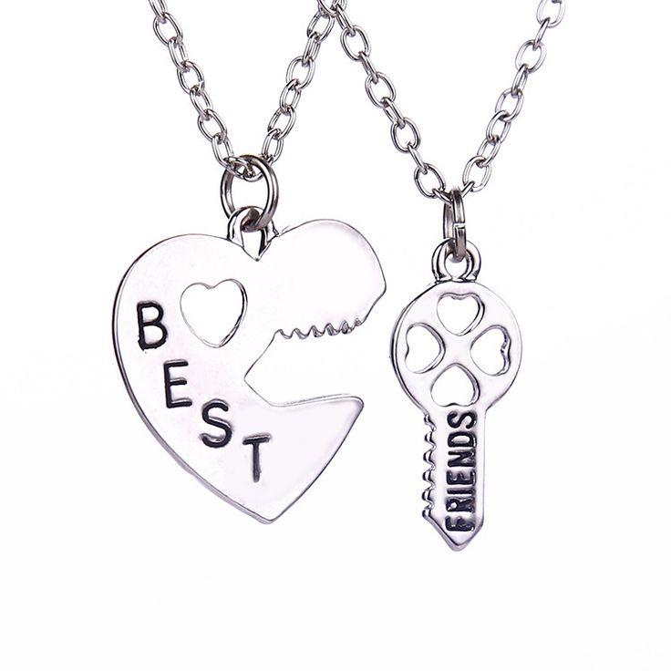 Купить товарБлокировка клавиш дружба ожерелья шкентеля в форме сердца лучшие друзья резные половина на память день памяти подарок для друга оптовая продажа в категории Подвескина AliExpress.                             [Материал] сплава                  [Длина] около 45 см                  [Размер]
