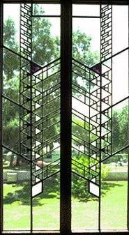 Stained glass by Frank Lloyd Wright.