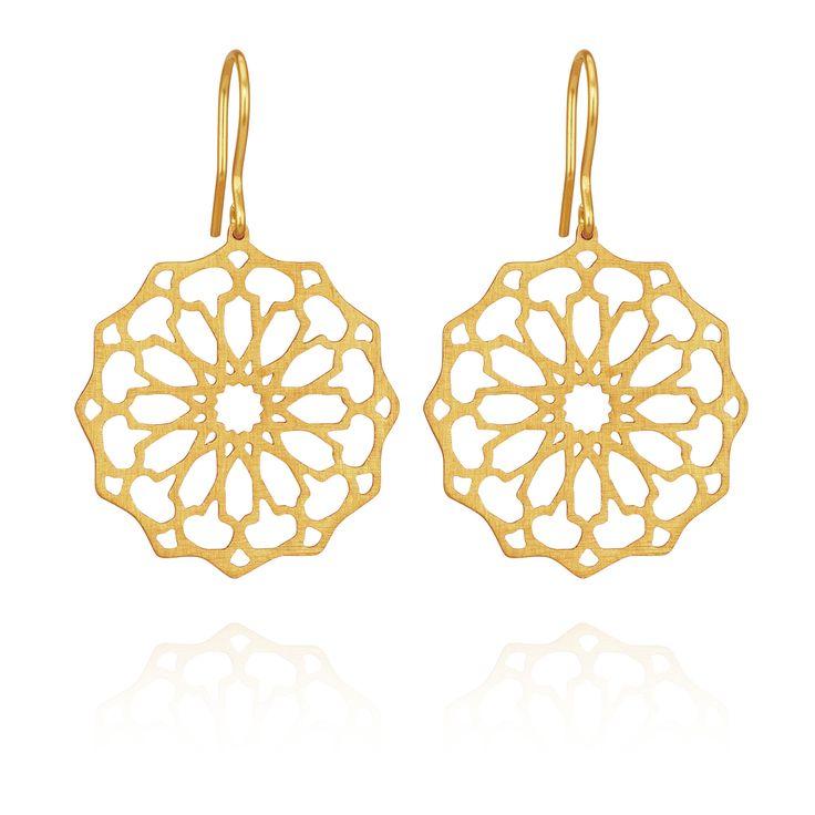 TEMPLE OF THE SUN JEWELLERY BYRON BAY - Persian Star Earring Gold, $129.00 (http://www.templeofthesun.com.au/persian-star-earring-gold/)