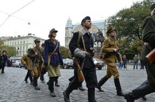 Львов.Наши дни И это еще не приняли Закон о свободном пользовании оружием