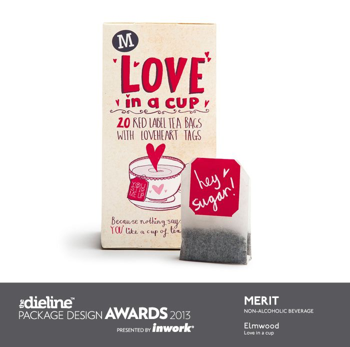 The Dieline Package Design Awards 2013: Non-Alcoholic Beverage, Merit - Love in a Cup