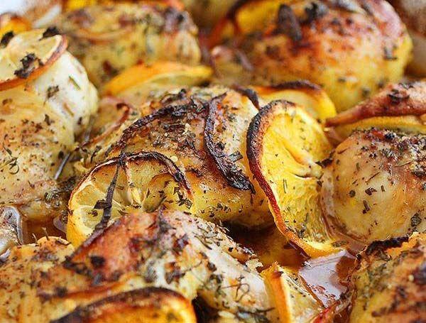 Rakott csirke almával és krumplival recept