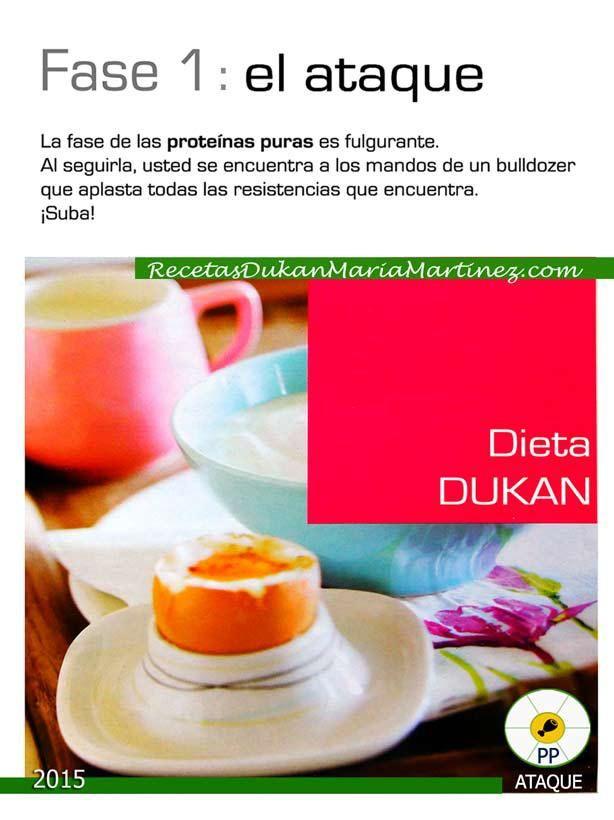 Dieta Dukan, resumen fases: 1, Ataque (2015)