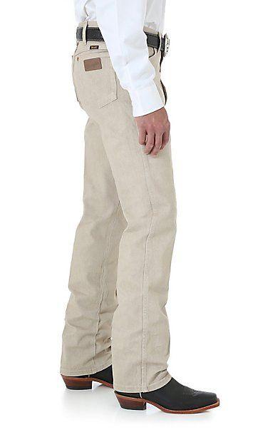 Wrangler Cowboy Cut Tan Slim Fit Jeans