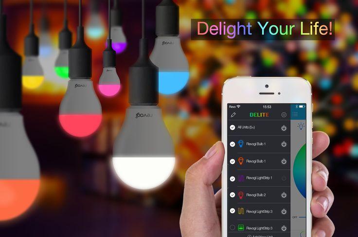 #Revogi #DelightYourLife #ControlUpTo10LEDColorBulbsAtTheSameTime #SmartLighting #ColorYourInterior! #Indoor #Lighting #Ideas #Pendant