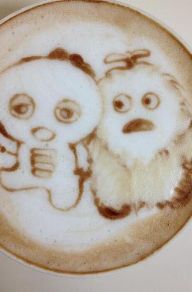 Latte Art ガチャピン