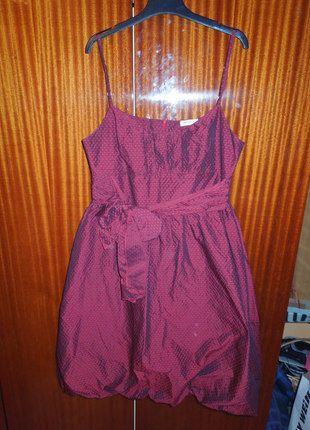 b2587d3264a6 Tmavě červené šaty Orsay