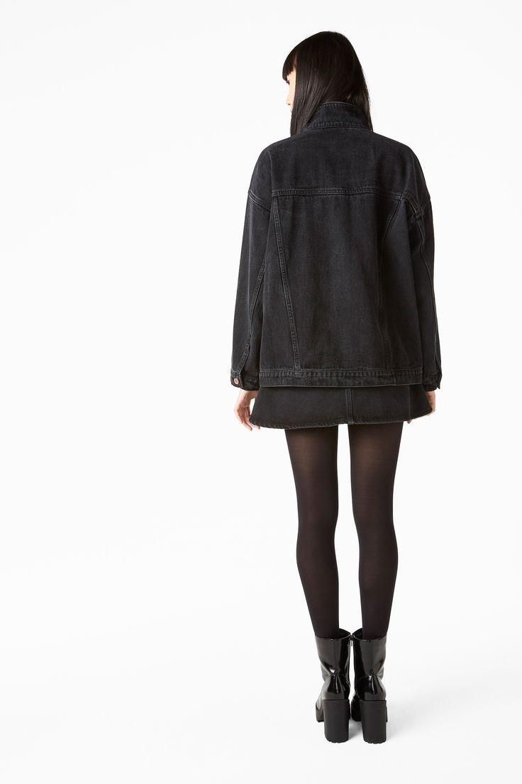 Monki Image 4 of Classic denim jacket in Black