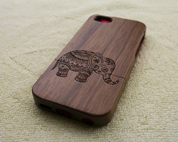 Wood iPhone 5C case wooden iPhone 5C case elephant by WoWood, $24.99