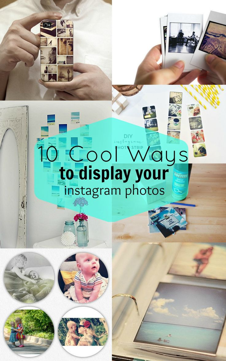 12 Cool Ways To Show Off Instagrams of Baby