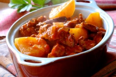 One of South Africa's most beloved traditional dishes: Tomato and Mutton Bredie.