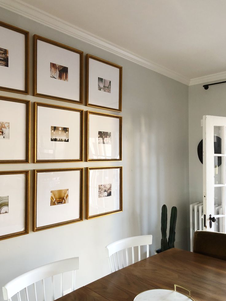 The Half Wall Grid Gallery Wall Nine Photos Oversized