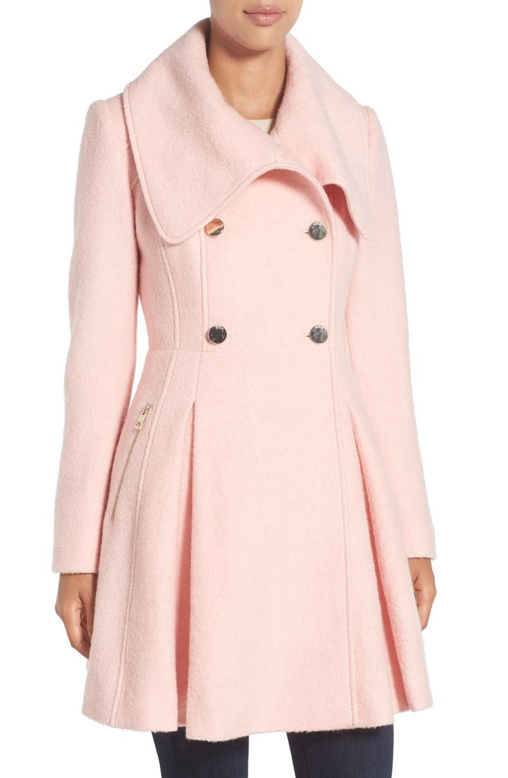 GUESS Envelope Collar Double Breasted Coat (Regular \u0026 Petite) but different  color