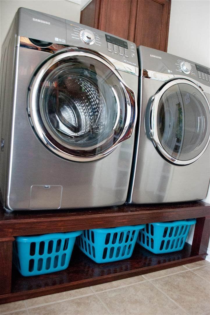 Washer and Dryer Pedestal - We seriously should do this. The house were getting has an ugly ghetto ply wood stand anyways.