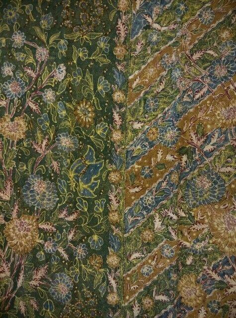 Batik three states sarong/3 negri solo Tjoa family,color green 1950.