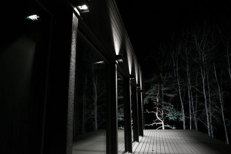 Impressive outdoor lighting with Winled's Hydra LED -lights. Näyttävä ulkovalaistus Winledin Hydra LED-valaisimilla.