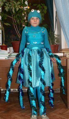 Как изготовить костюм осьминога для ребенка