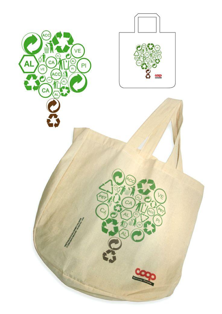 Progetto vincitore del concorso Coop per una shopping-bag. Sara Zanaboni e Giulia Ammannati, 2010