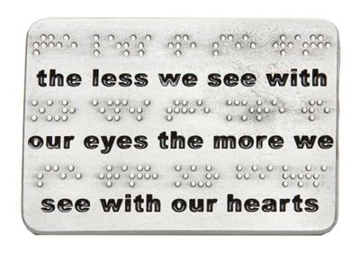Our Eyes - Braille Paperweight