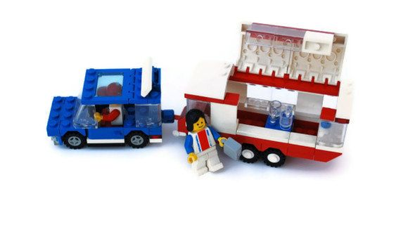 I still have this! Vintage Lego Vacation Camper, Item 6590, Blue, White, Red