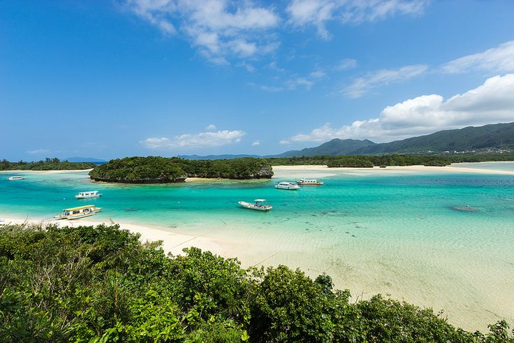 Paradise beach on Ishigaki island, Okinawa prefecture, Japan