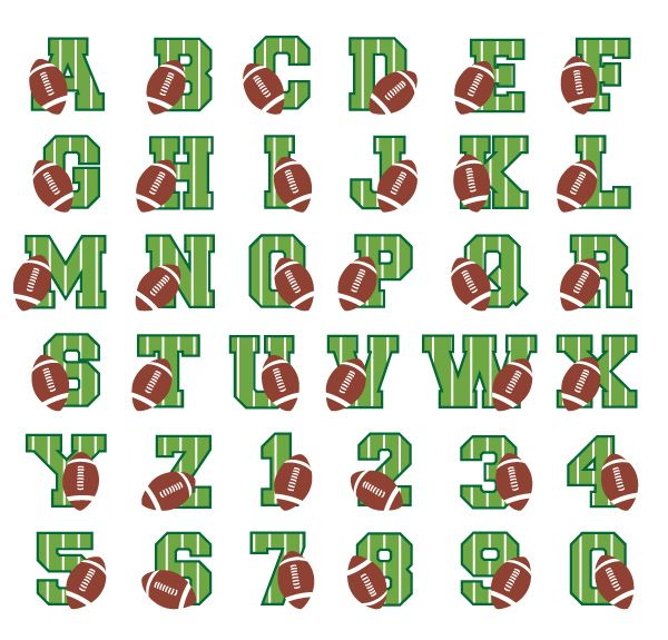 Football Font embroidery font