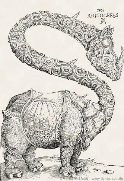 Rhinozeros (Holzschnitt nach Albrecht Dürer)                                                                                                                                                                                 Mehr
