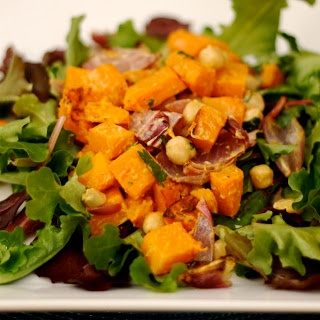 butternut squash and chickpea salad with tahini | Soups and salads ...