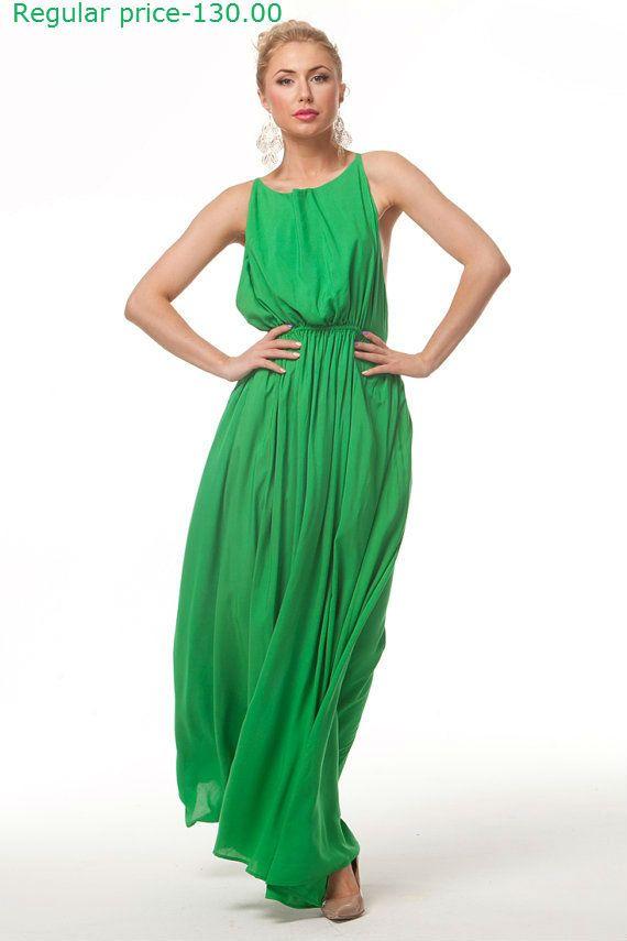 ON SALE 20 OFF Bright Green Long DressWedding by FashionDress8