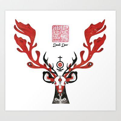 Dead Deer Art Print by OniBaka's Odditorium - $14.50