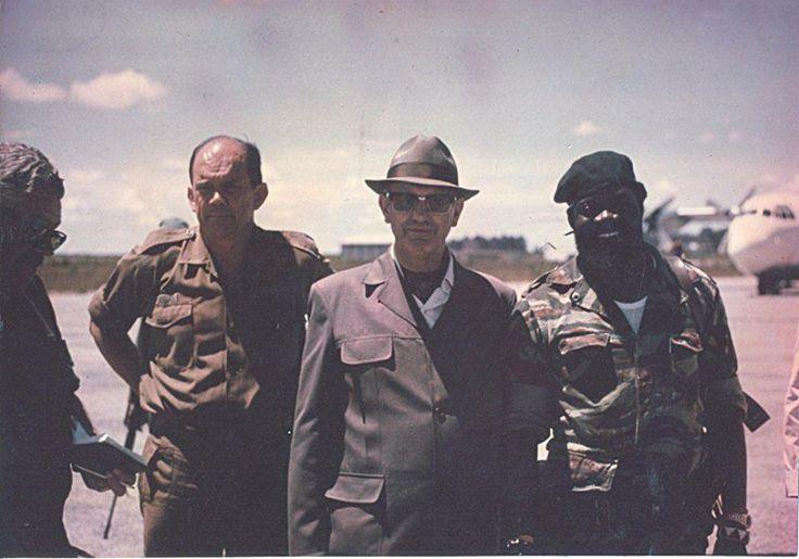 General Magnus Malan, President PW Botha, Jonas Savimbi (leader of UNITA).