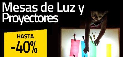 Mesas de Luz y Proyectores hasta -40% Dto.