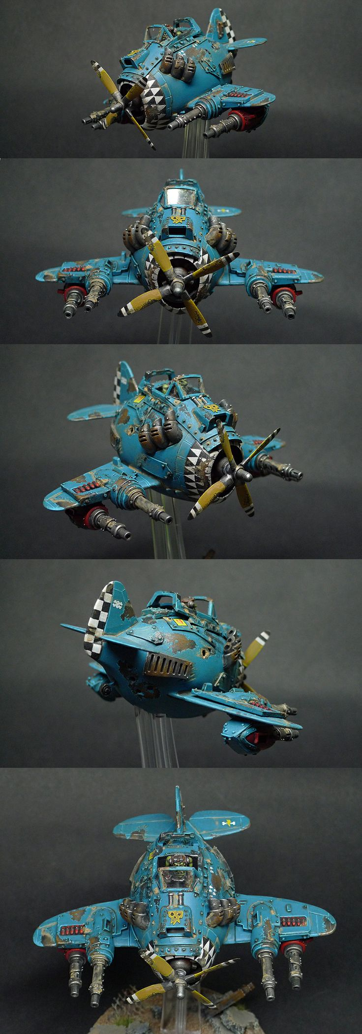 "Space Ork Dakka Jet ""The Blue Baron"""