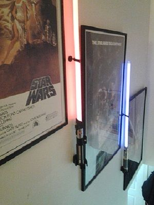 Thinkgeek Vertical Wall Mount For Star Wars Force Fx