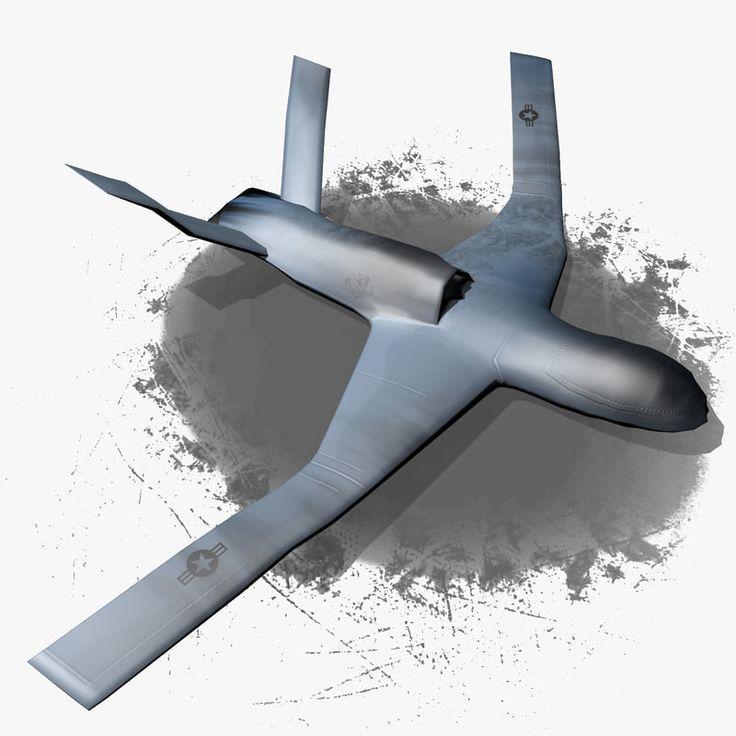 General Atomics Avenger Predator 3D Model - 3D Model