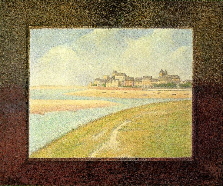 View of Le Crotoy, from Upstream - Georges Seurat