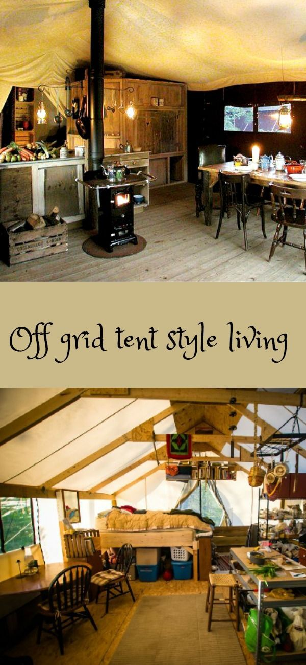 off grid tent style living, this is a little out there for outdoors DIY but how much more DIY can you get then living in a tent?