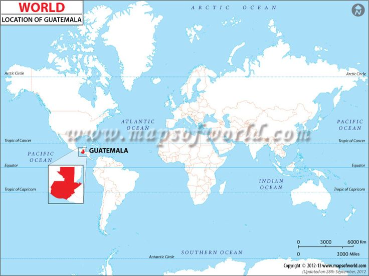 Where Is Guatemala On The World Map