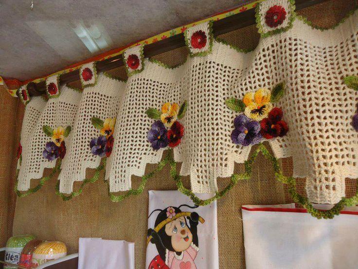 bandô para cozinha em croche - Pesquisa Google