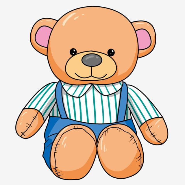 Cartoon Bear Doll Illustration Bear Doll Bear Doll Png Transparent Clipart Image And Psd File For Free Download Bear Cartoon Bear Doll Cute Banners