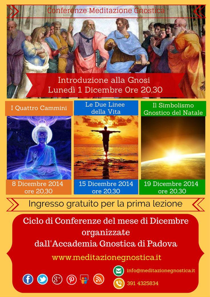 Attività di Dicembre 2014 - Accademia Gnostica Padova - www.meditazionegnostica.it