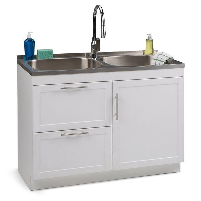 Seiger 46 X 20 Freestanding Laundry Sink With Faucet