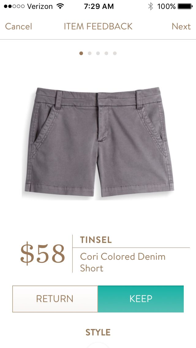 Stitch Fix Stylist: I would like to try these shorts in teal or khaki if available. Thanks, Louisa